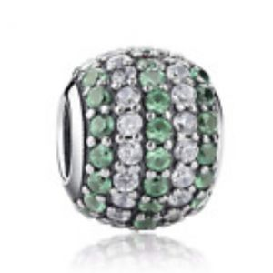 Green&Clear Crystal Ball European Charm
